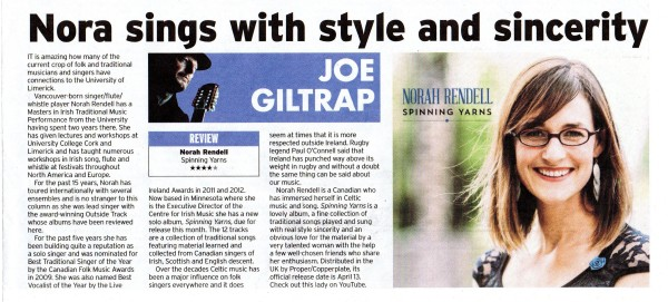 Review in the Irish Post by Joe Giltrap
